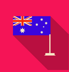 Australia flag in flat style with long shadow vector