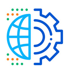 Automated internet settings icon outline vector