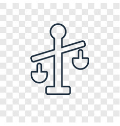 balance concept linear icon isolated on vector image