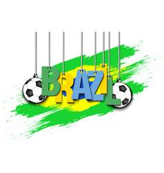banner the inscription brazil vector image