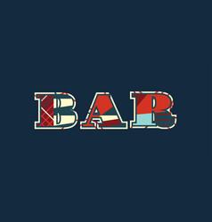 Bar concept word art vector