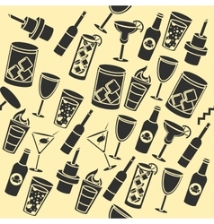 Bar set pattern vector image