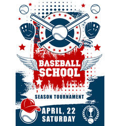 baseball sport school team tournament vector image