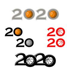 basketball symbol new 2020 year vector image