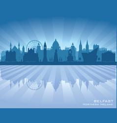 Belfast northern ireland city skyline silhouette vector