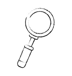 Blurred silhouette magnifying glass with lens vector