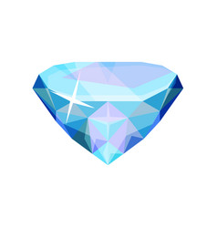 brilliant precious stone transparent crystal gem vector image