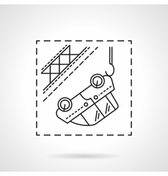 Car evacuation flat line icon vector