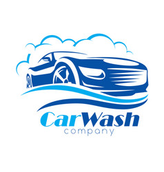 car wash stylized symbol design elements for vector image