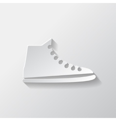 Casual keds gym shoes icon vector