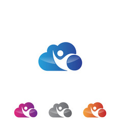Cloud people vector