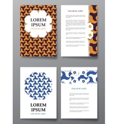 Cover brochure design Arabic traditional vector image