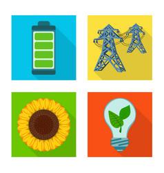 Design solar and panel symbol vector