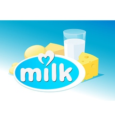 design with milk dairy product vector image