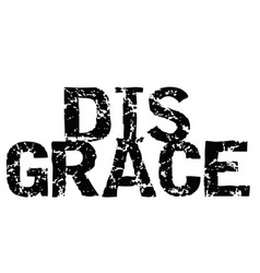 Disgrace typographic stamp vector