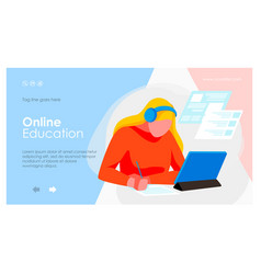 E-learning banner template vector