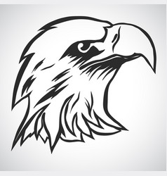 eagle head logo vector image