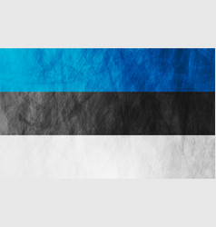 estonian grunge flag abstract textural background vector image