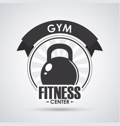 Fitness design gym icon flat sport vector