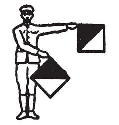 Flag signal for the letter z vintage vector