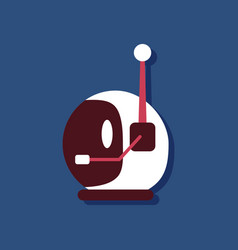 Flat icon design space helmet with antenna vector