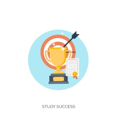 Flat Trophy study success vector