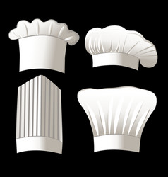 Four chef hats vector image