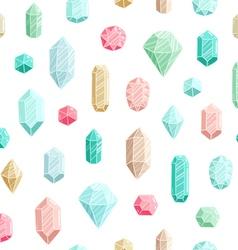 Gemstones seamless pattern vector