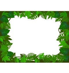 green leaf frame vector image