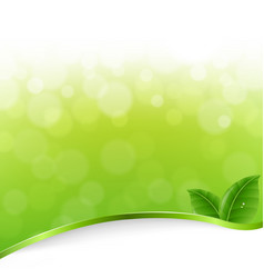 green nature bokeh vector image