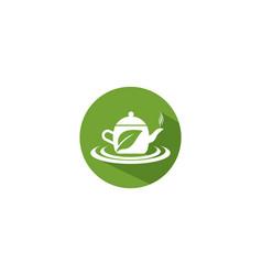green tea logo vector image