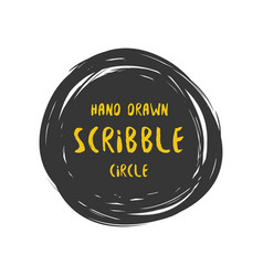 Hand drawn scribble colorful circle and vector