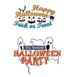 Happy halloween party advertisement vector