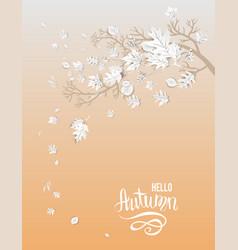 hello autumn card vector image