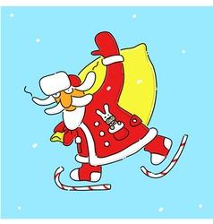Hello santa vector image