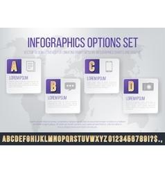 Infographics font set vector