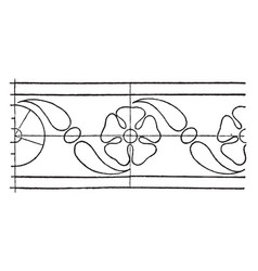 intarsia border rosette band is a design of a vector image