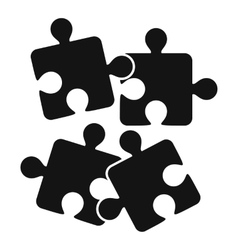 Jigsaw puzzles icon simple style vector