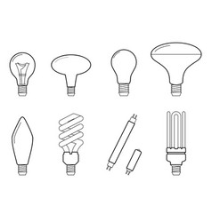 line main electric lighting vector image
