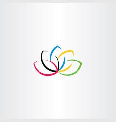 lotus logo flower symbol vector image