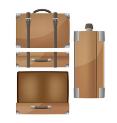 Luggage travel bags isolated set vector