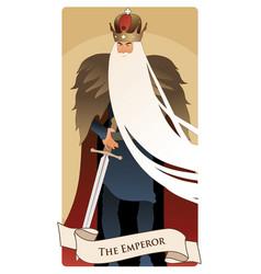 Major arcana tarot cards the emperor man with vector