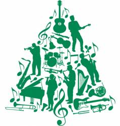 music Christmas tree vector image vector image