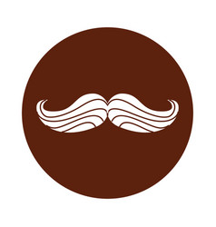 Mustache hipster isolated icon vector