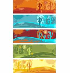 Nature banner set vector