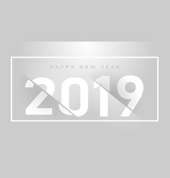 new year celebration premium grey background pper vector image