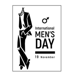 November international mens day icon simple style vector