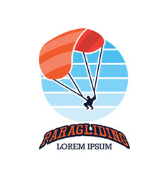 Paragliding logo with text space vector
