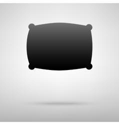 Pillow black icon vector