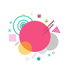 pink circle and shapes on vector image